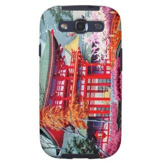 Cool japanese Red Temple Spring Asano Takeji Samsung Galaxy SIII Case
