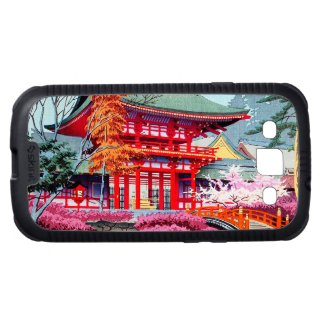 Cool japanese Red Temple Spring Asano Takeji Galaxy S3 Covers