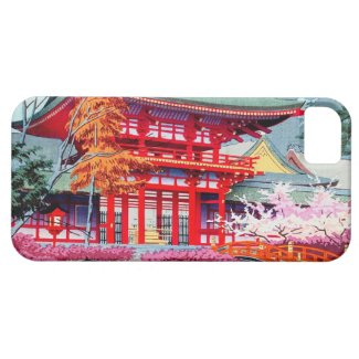 Cool japanese Red Temple Spring Asano Takeji iPhone 5 Cover