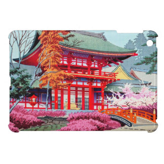 Cool japanese Red Temple Spring Asano Takeji Cover For The iPad Mini