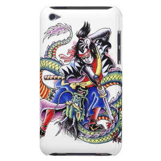 Cool Japanese Samurai Fight Dragon tattoo Barely There iPod Cover