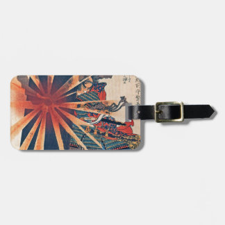 Cool Japanese Samurai Warrior Blistering Sun Art Bag Tag