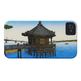Cool japanese sea waterscape shrine temple scene iPhone 4 cases