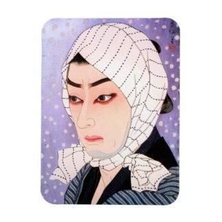 Cool japanese Shunsen Natori Kabuki actor Rectangular Photo Magnet