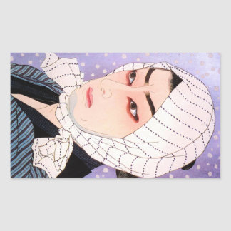 Cool japanese Shunsen Natori Kabuki actor Rectangular Sticker