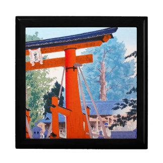 Cool japanese Tokuriki Shrine entrance forest Jewelry Boxes