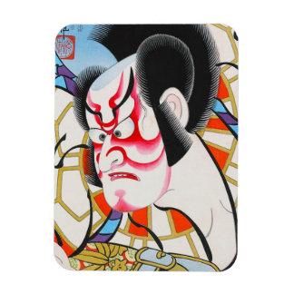 Cool japanese traditional kabuki makeup tadamasa rectangular photo magnet