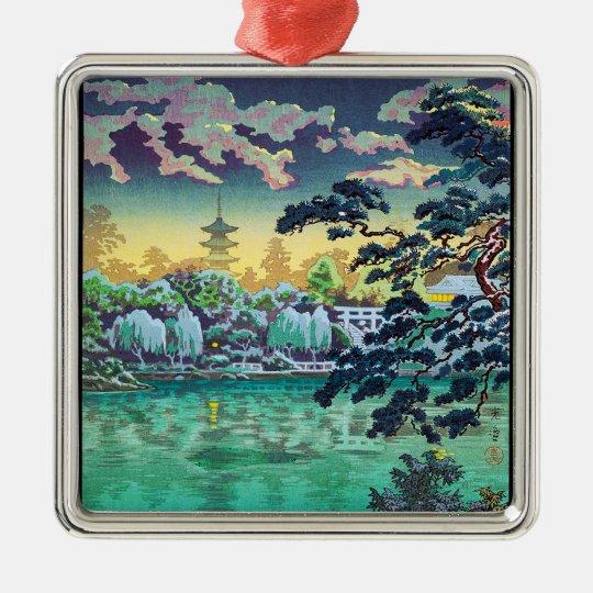 Cool japanese Ueno Shinobazu Pond Tsuchiya Koitsu Metal Ornament