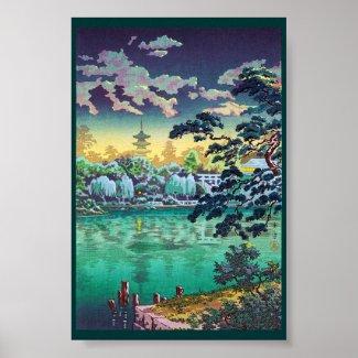 Cool japanese Ueno Shinobazu Pond Tsuchiya Koitsu Print