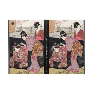 Cool japanese ukiyo-e trio geisha lady scroll iPad mini case