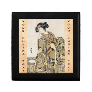 Cool japanese ukiyo-e vintage geisha old scroll jewelry box