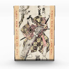 Cool japanese vintage samurai ukiyo-e scroll award