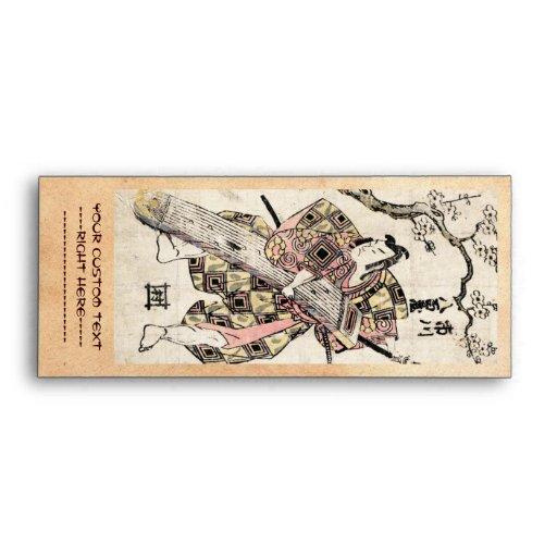 Cool japanese vintage samurai ukiyo-e scroll envelopes
