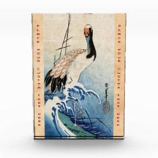 Cool japanese vintage ukiyo-e crane bird scroll award