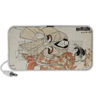 Cool japanese vintage ukiyo-e geisha and man art mini speaker