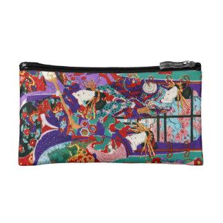 Cool japanese vintage ukiyo-e geisha ladies art cosmetic bag