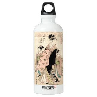 Cool japanese vintage ukiyo-e geisha ladies water bottle
