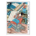 Cool japanese vintage ukiyo-e geisha lady art stationery note card