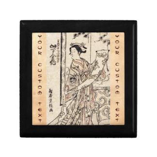 Cool japanese vintage ukiyo-e geisha old scroll gift box