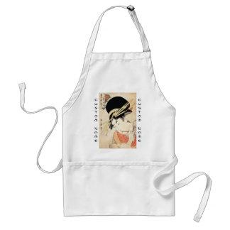 Cool japanese vintage ukiyo-e geisha portrait adult apron