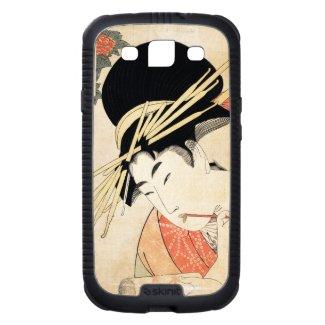 Cool japanese vintage ukiyo-e geisha portrait galaxy s3 covers
