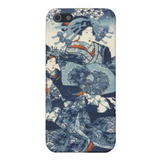 Cool japanese vintage ukiyo-e geisha scroll art covers for iPhone 5