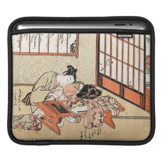 Cool japanese vintage ukiyo-e geisha scroll sleeve for iPads