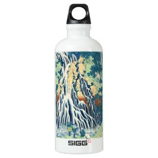 Cool japanese vintage ukiyo-e Hokusai waterfall Aluminum Water Bottle