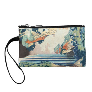Cool japanese vintage ukiyo-e Hokusai waterfall Change Purse