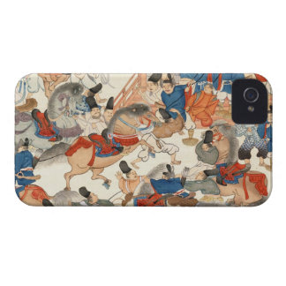 Cool japanese vintage ukiyo-e horse riders cavalry iPhone 4 Case-Mate case