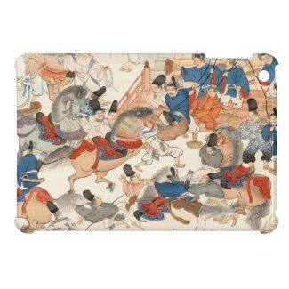 Cool japanese vintage ukiyo-e horse riders cavalry iPad mini cases