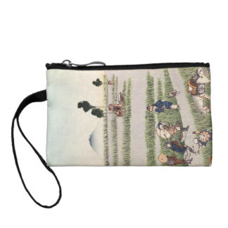 Cool japanese vintage ukiyo-e people landscape coin purse