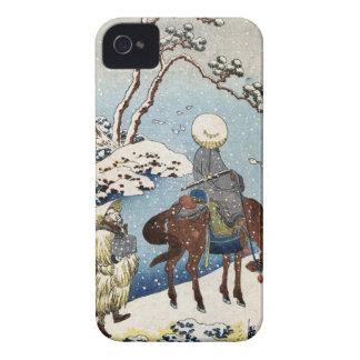 Cool japanese vintage ukiyo-e raider winter scene Case-Mate iPhone 4 case