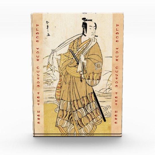 Cool japanese vintage ukiyo-e samurai tattoo art award