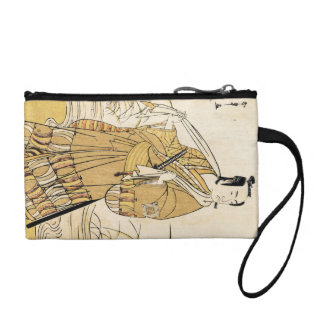 Cool japanese vintage ukiyo-e samurai tattoo art coin purse