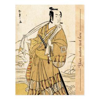 Cool japanese vintage ukiyo-e samurai tattoo art postcards