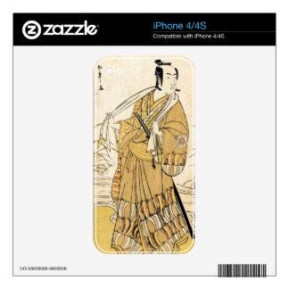 Cool japanese vintage ukiyo-e samurai tattoo art iPhone 4S skin