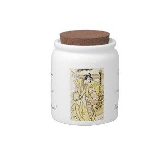 Cool japanese vintage ukiyo-e samurai tattoo candy jars