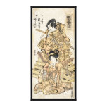 Cool japanese vintage ukiyo-e samuraj warrior art canvas print
