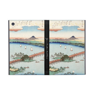 Cool japanese vintage ukiyo-e scenery waterscape cover for iPad mini