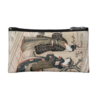 Cool japanese vintage ukiyo-e scroll two geisha cosmetic bag