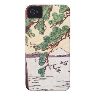 Cool japanese vintage ukiyo-e sea tree birds scene iPhone 4 Case-Mate case