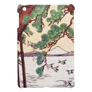 Cool japanese vintage ukiyo-e sea tree birds scene iPad mini covers