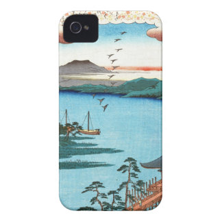 Cool japanese vintage ukiyo-e sea waterscape scene iPhone 4 Case-Mate cases