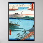 Cool japanese vintage ukiyo-e sea waterscape scene posters