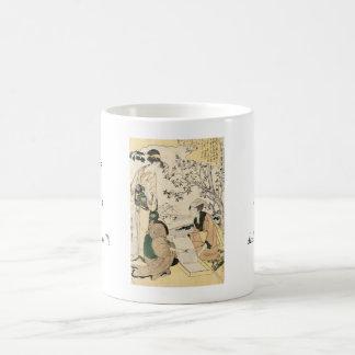 Cool japanese vintage ukiyo-e three ladies geisha coffee mug