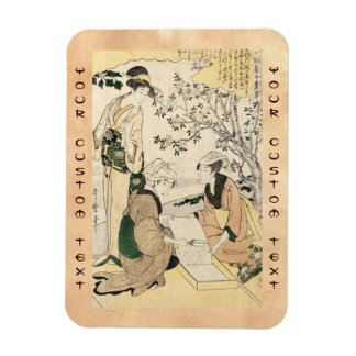 Cool japanese vintage ukiyo-e three ladies geisha magnet