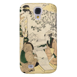 Cool japanese vintage ukiyo-e three ladies geisha samsung s4 case