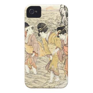 Cool japanese vintage ukiyo-e three woman sea iPhone 4 case