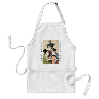 Cool japanese vintage ukiyo-e trio lady geisha art adult apron